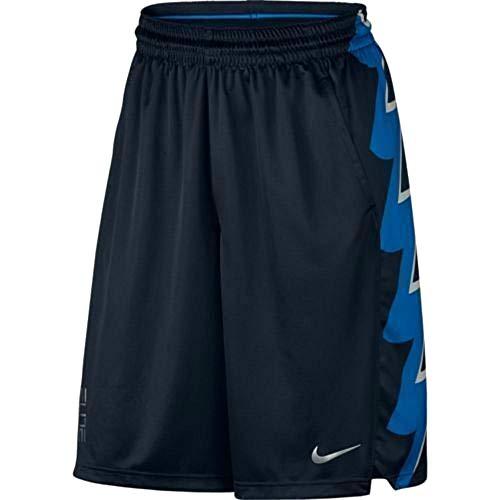 Nike Men's Elite Bolt Graphic Dri-fit Basketball Shorts Size Large 682989-451 Navy - Cobalt Blue - Silver
