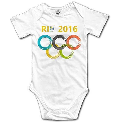 Price comparison product image Olympics Games Boy's & Girl's The 2016 Rio De Janeiro White T-shirt Size 24 Months