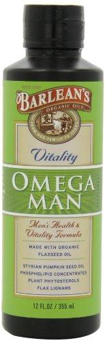 Органические масла Barlean в Omega Man, 12-унция бутылок