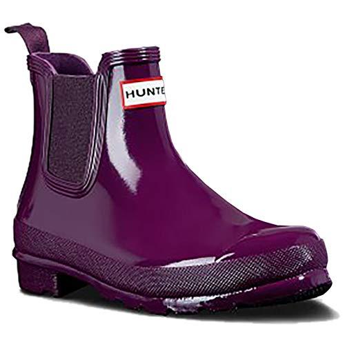 Hunter Boots Women's Original Chelsea Gloss Rain Boot Violet