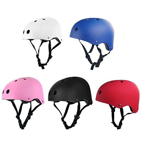 Helmet 1,Adult Kids Skate BMX Scooter Skateboard Stunt Bike Crash Helmet 5 Color