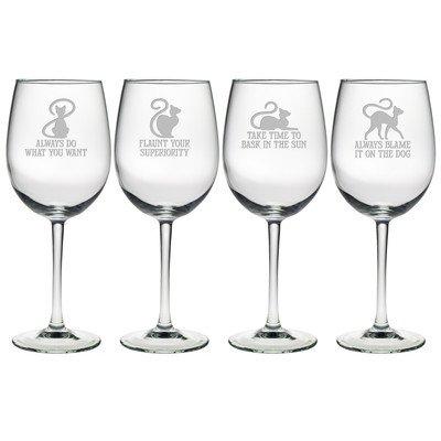 Cat Philosophy Wine Glass (Set of 4)