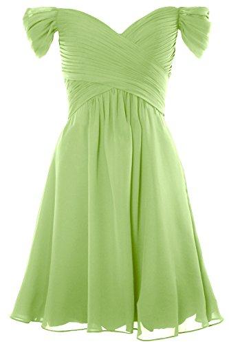 Shoulder MACloth Women Gown Wedding Cocktail Formal Dress 2018 Short Pistachio Off Party wFZEFp