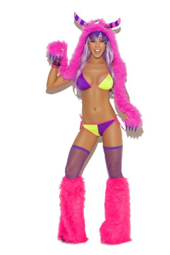 (Elegant Moments Women's Furry Boot Covers, Neon Pink, One Size)