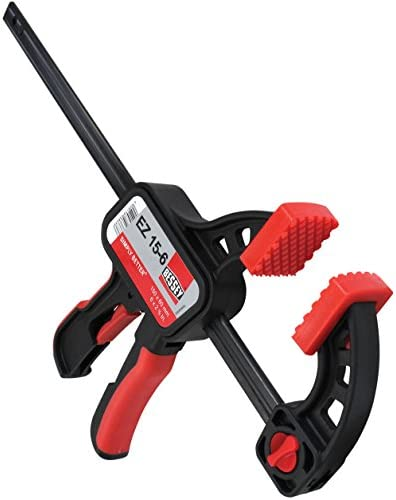 Bessey EZ15-6 One Handed Trigger Clamp for Compressing & Spreading 6 Capacity x 2 3/8 Throat Depth, Red/Black by Bessey