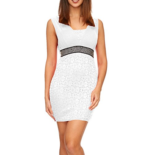 Cocktail Femme Robe Alzora Cocktail Alzora Robe White 8wZqaA77n