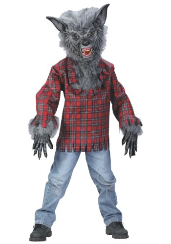Deluxe Werewolf Child Costume - FunWorld Child Grey Werewolf Costume - Small