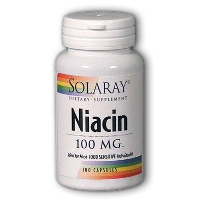 Solaray Ниацин Витамин Капсулы, 100 мг, 100 Граф