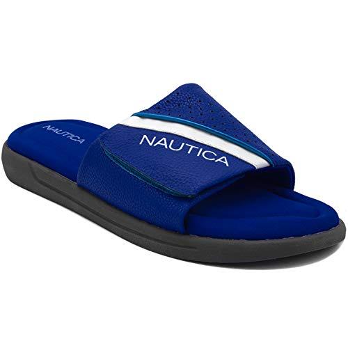 Nautica Men's Memory Foam Footbed Athletic Slide, Comfort Sandal-Montrell 2-Blue-9 ()