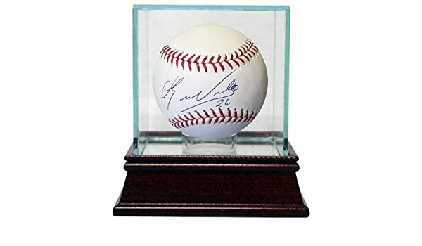 341ed2e6e Eduardo Nunez Autographed Baseball - Rawlings Official Major League  26 w  Glass Case blue sig) (Boston Red Sox) at Amazon s Sports Collectibles Store