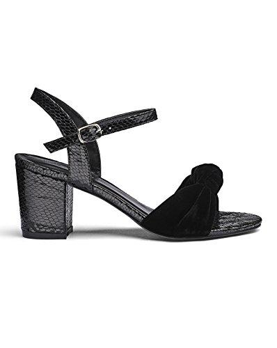 JD Williams Womens Heavenly Soles Sandals Black 0hkyQwaS