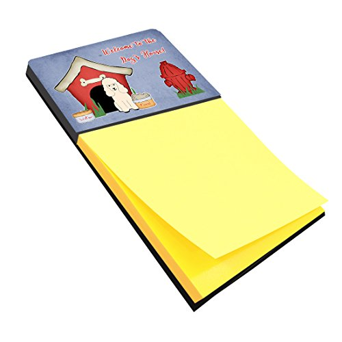 Treasures White Collection - Caroline's Treasures Dog House Collection Poodle White Sticky Note Holder, Multicolor (BB2824SN)
