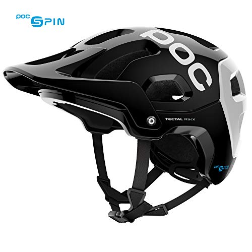 POC Tectal Race Spin, Helmet for Mountain Biking, Uranium Black/Hydrogen White, XL-XXL
