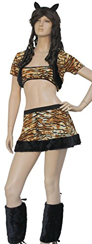 IF FEEL Womens Sexy Halloween Masquerade Cosplay Animal Costume (One size, LC8269) (Wild Zebra Adult Womens Costume)