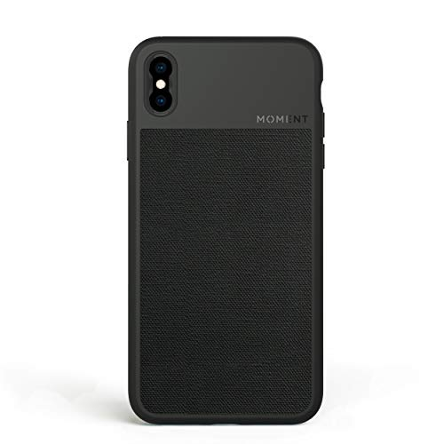 (iPhone Xs Max Case || Moment Photo Case in Black Canvas - Thin, Protective, Wrist Strap Friendly case for Camera Lovers.)