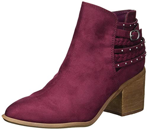 Carlos by Carlos Santana Women's Ashby Ankle Boot, Malbec, 7 Medium US