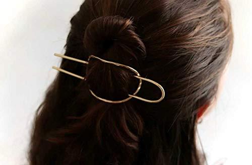 e3e544fb8 Amazon.com: Gold Hair Slider Set,Simple Hair Stick,Bun Holder,Textured Hair  Slider,Hair Pin,Simple Hair Pin,Minimalist Hair Fork Pin,Hair Accessories:  ...