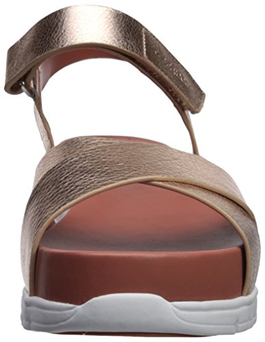 Women's Zerogrand Haan Leather Gold Flat Ii Cole Rose Sandal 5Ega7q