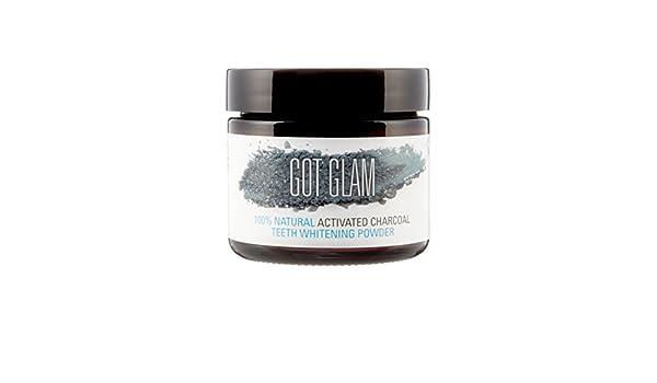 Polvo blanqueador de dientes - Para conseguir un aliento fresco y mejorar la salud bucal - 100 % natural - Carbón activo de cáscara de coco y menta piperina ...