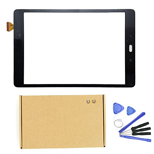 Digitizer Lens - For Samsung Galaxy Tab A 9.7 SM-T550 T550 Touch Screen Digitizer Glass Repair replacement glass lens BLACK COLOR