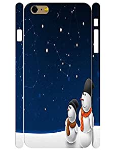 3D Print Elegant Snowman Pattern Rugged Phone Dust Proof Case for Iphone 6 Plus 5.5 Inch