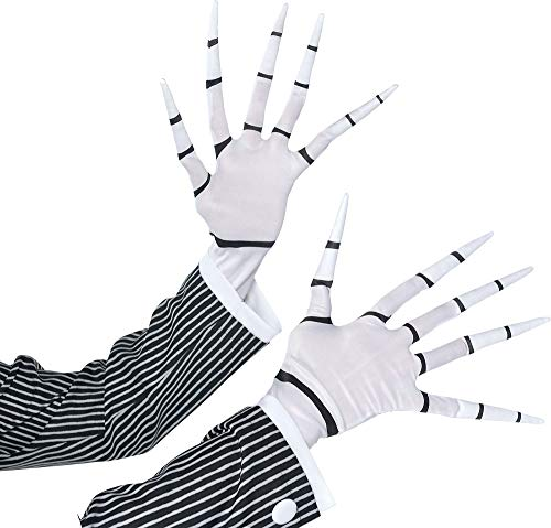 Suit Yourself Jack Skellington Gloves for Adults, Halloween Costume Accessories, One -