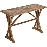 Cape Craftsmen Urban Farmhouse Triangular Inlay Fir Wood Entryway Table