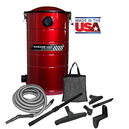 VacuMaid GV30R Wall Mounted Garage and Car Vacuum with 30 ft hose and Tools by VacuMaid