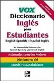 Vox Diccionario Ingles para Estudiantes, Vox Staff, 0071400249