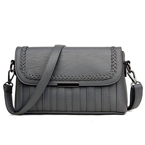 Portable Messenger Bag fashion wild Schultertasche, grau