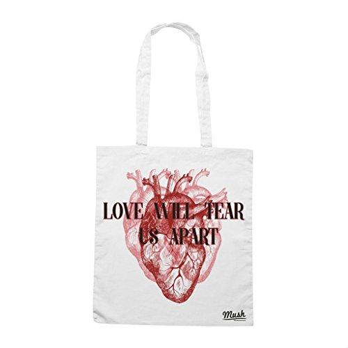 Borsa LOVE WILL TEAR US APART - Bianca - MUSH by Mush Dress Your Style Venta Barata 100% Originales Descuento De La Separación wpBg5ieofB