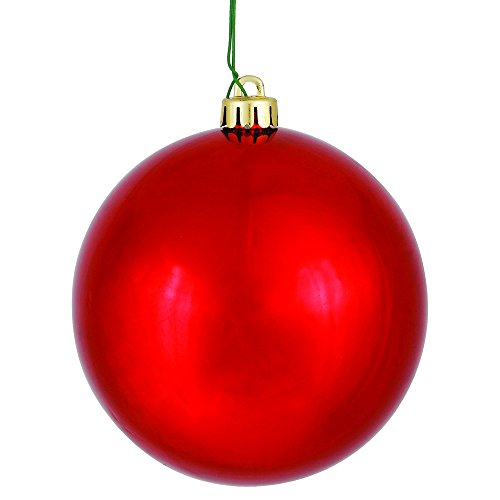 Shiny Red Ball Ornament - 3