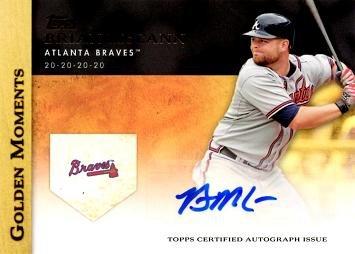 (2012 Topps Golden Moments #GMA-BM Brian McCann Certified Autograph Baseball)