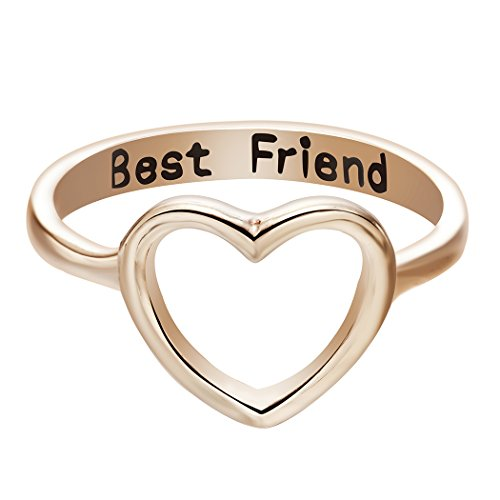 ONE A DAY Knuckle Finger Rings Dainty Love Heart Midi Ring for Women Best Friends Ring in Gold