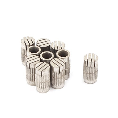 DealMux 10Pcs Mould Parts Stainless Steel Slotted Type Core Box Vents 5mmx10mm