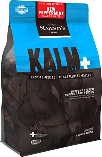 (Majesty's Kalm Peppermint Wafers - Supports Balanced Behavior and Normal Nervous System Function in Horses - 60 Count (2 Month Supply))