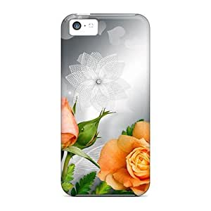 PC Shockproof/dirt-proof Silver Tea Roses Case For Iphone 6 Plus (5.5 Inch) Cover
