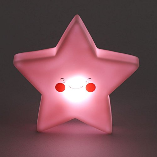 Smartcoco Lovely Smile Little Star LED Night Light Lamp for Kids Baby Bedroom Decor