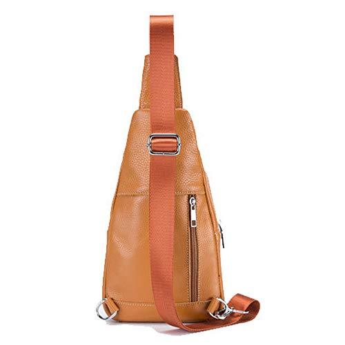 Borla Pecho Orange Bolso Y weifeng Delantero Bandolera Informal Decoración De Cuero Para Bags Con Mujer t7q6aTw6n