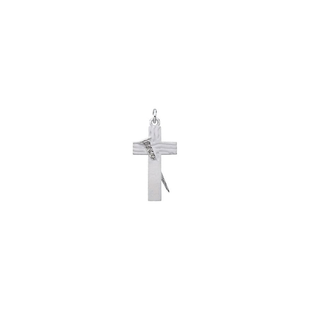 Jewels By Lux 925 Sterling Silver 25.25 X 14.75 mm Polished Redemption Cross Pendant