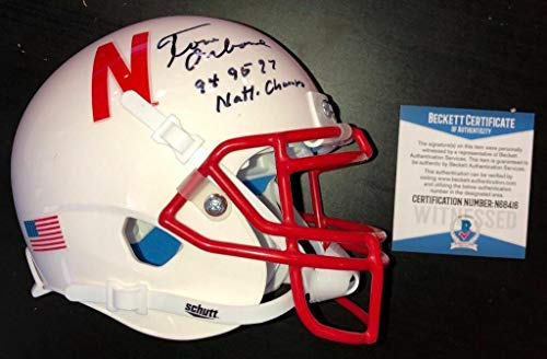 Tom Osborne Signed Nebraska Cornhuskers Inscribe Mini Helmet Beckett Witness Coa - Beckett Authentication