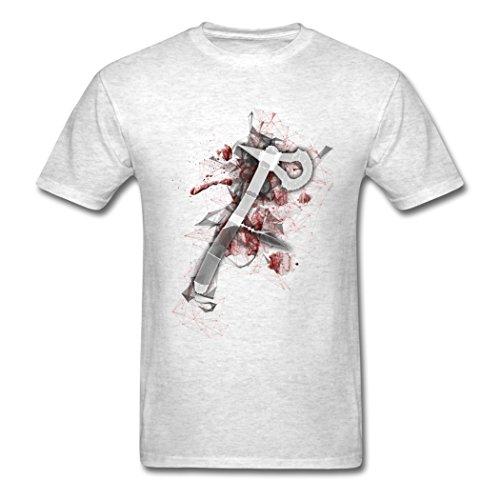 Bangie Assassin's Tomahawk Solid Light oxford Men T Shirts X-Large
