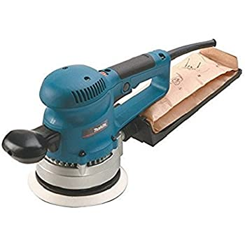 Makita BO6030 2.7 Amp 6-Inch Random Orbit Variable Speed Sander with Cloth Dust Bag