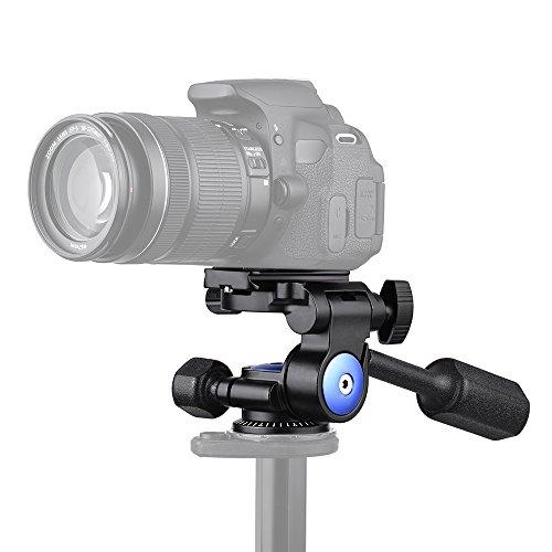 Andoer A-40 3 Way Camera Video Head Aluminum Alloy 360° Pan