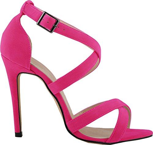 CFP - Zapatos con tacón mujer rosa (b)