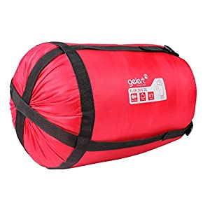 Gelert Elen 300 Mummy Autumn Winter Sleeping Bag Raspberry