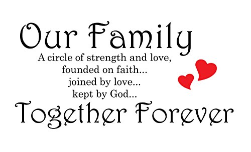 Our Family Is A Circle Of Strength And Love  Founded On Faith  Joined In Love  Kept By God Wall Quote Decal Sticker Art D Cor