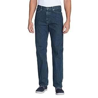 Eddie Bauer Men's Relaxed Fit Essential Jeans, Dk Stonewash 30 Short