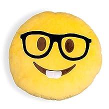 Nerdy Shelfies Emoji Pillow