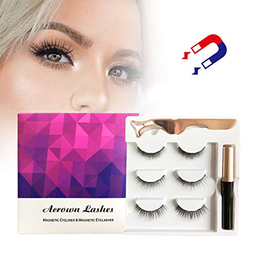 Magnetic Eyeliner and Eyelash Kit Natural Look Waterproof and Smudge Resistant No Glue Easier To Use Than Traditional Magnetic Eyelashes (The Best Magnetic Eyelashes)
